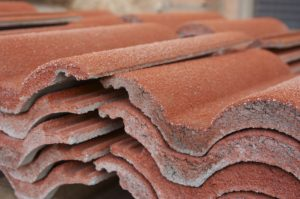 Heap of roofing tiles